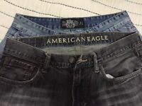 2 brand new jeans one is American eagle and the other reflex
