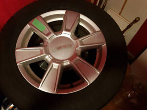 "Set of 17"" tires and wheels"