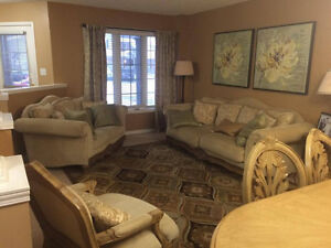 Sofa, Dining, Rug, Accent Chair, Wall paintings-Excellent condit