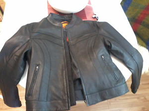 Womans xl riding leather jacket brand new