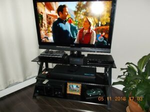 "What a Christmas gift this  TV Stand with 46"" Sony TV for sale"