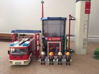 Playmobil Firestation with fire engine for sale