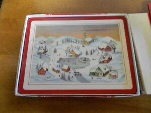 CHRISTMAS PLACE MATS BY PIMPERNEL SET OF 8