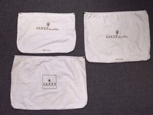 For sale we have Three (3) nice Gucci Dust Bag Covers, I will d