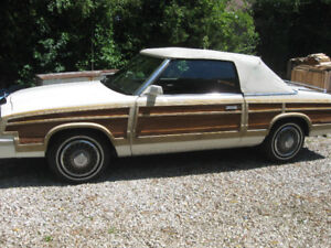 "1983 Lebaron convertible ""woody""  town & country"