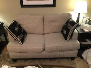 Capella (Leons) loveseat and chair and a half