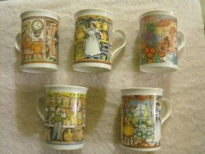 SET OF 5 SADLER WILLINGTON COFFEE MUGS Sarnia Sarnia Area image 1