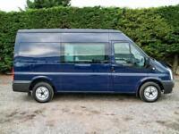 2012 (62) FORD TRANSIT T300 F.W.D MWB MEDIUM ROOF 6 SEAT CREW VAN,125PS