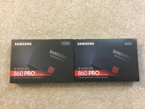 Samsung ssds 860 pro (never used)