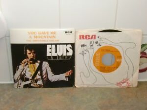 """VINTAGE ELVIS PRESLEY """"YOU GAVE ME A MOUNTAIN"""" plus another 45"""
