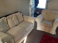 2 seater sofa and arm chair FREE!