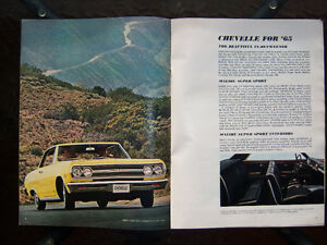 1965 Chevrolet dealer showroom catalog ..... all models London Ontario image 3
