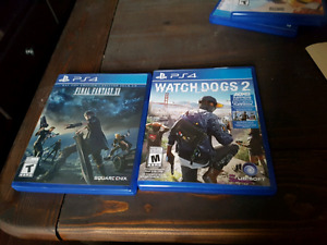 Watch dogs 2 and final fantasy 15