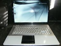 Gateway Dual Core Laptop        Only $75 AS IS WORKS !!