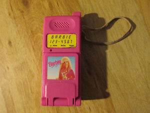 Mattel BARBIE Toy Electronic Cell Phone Vintage 1998 Pink Doll