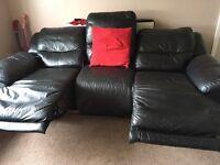 Leather electric sofa set