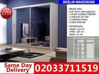 BRAND NEW 215cm Berlin 2 Door Sliding mirror 203cm get your order today Wylliesburg