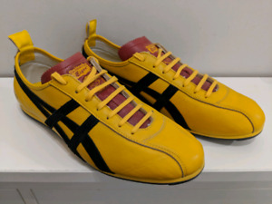 Onitsuka Tiger shoes HL608 yellow black RARE Red Tongue