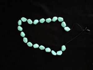 Teether necklace - tourquoise/blue