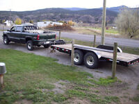 pickup and trailer for hire!!