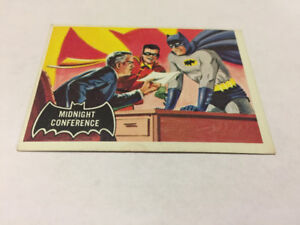 Topps 1966 BATMAN(Black Cowl)Original Card#4MIDNIGHT CONFERENCE