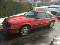1985 ford mustang gt 5.0 5spd w/sunroof SAFETIED
