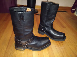 Harley Davidson Mega Harness Men's 11 Black Biker Boot $150