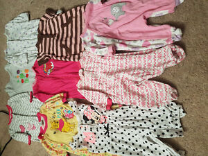 Box of 0-3 baby girl clothes