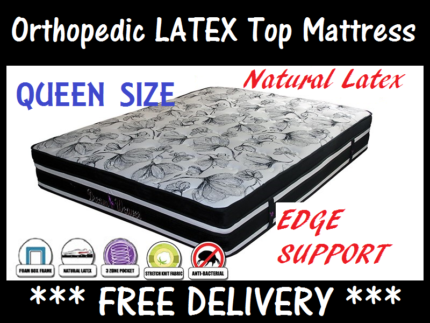 BRAND NEW Queen Size Pocket Spring Pillow Top Mattress DELIVERED
