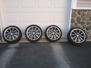 """Four RTX 18"""" Rims and Tires"""