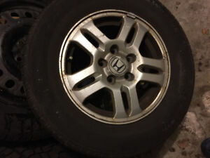 15 in alloy Honda rims with Michelin summer tires