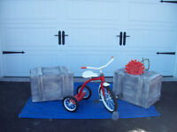 TRUNK/ CHEST Style CRATES, STOOLS+CHAIRS+ TRICYCLES
