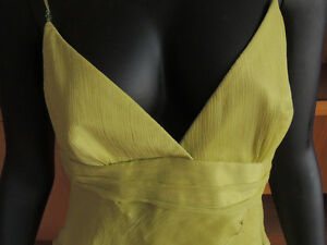 Shelli Segal, designer layered chiffon and silk dress. London Ontario image 3