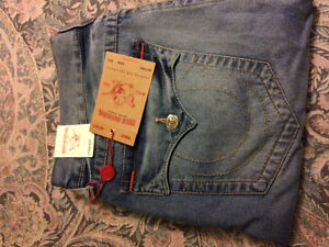 True Religion Straight Jeans Size 36 BRAND NEW
