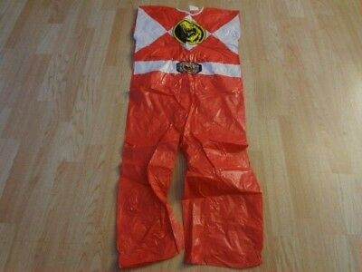 Youth Red Power Ranger M (7/8) Vintage 1994 Costume Halloween Outfit