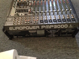 Behringer mixing board/speakeres and mikes