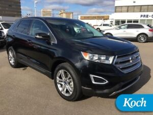 2016 Ford Edge Titanium  Adapt Cruise, Moonroof, HIDs, Heated Wh