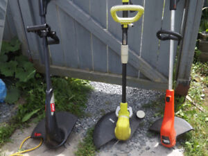 3 Electric Grass Trimmers $ 15.00-$25.00