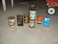 Old metal cans of oil and other automotive things!