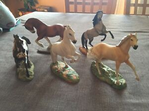 5 Mint 1989 Franklin Mint The Great Horses Of The World