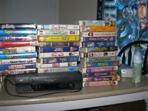 vhs recorder and movies