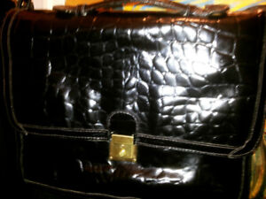 Calderone Crocodile  Leather Laptop Handbag Handmade Italy