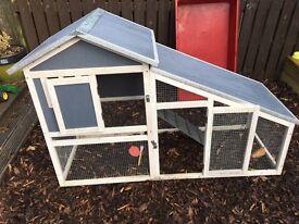 BUNNY ARK - Hybrid - Double Tier Rabbit Hutch Guinea Pig House