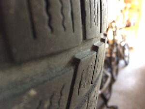 Two Tires (Goodyear and Nokian)