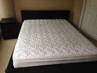 IKEA Malm queen bed, mattress, 3 drawer chest and night table