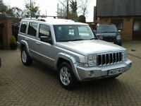 2007 07 Reg Jeep Commander 3.0CRD V6 auto Limited 7 Seats