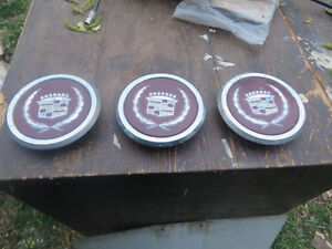 lot of 3 1985 cadillac deville center caps