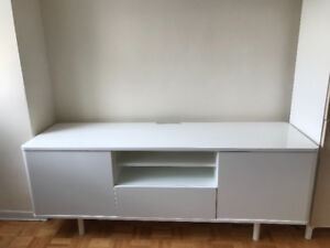 IKEA TV bench MOSTORP - White
