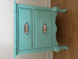 Turquoise French provincial accent table/ nightstand