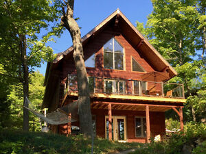 New Log & Timber frame Lakefront Home & Cottage For Sale